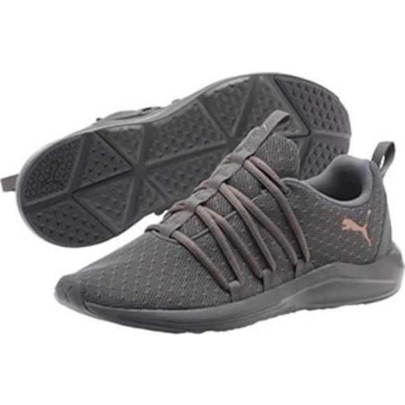 5fe3f0f5a3df2a Puma Prowl Alt Knit Gold Mesh Running Shoes 8.5